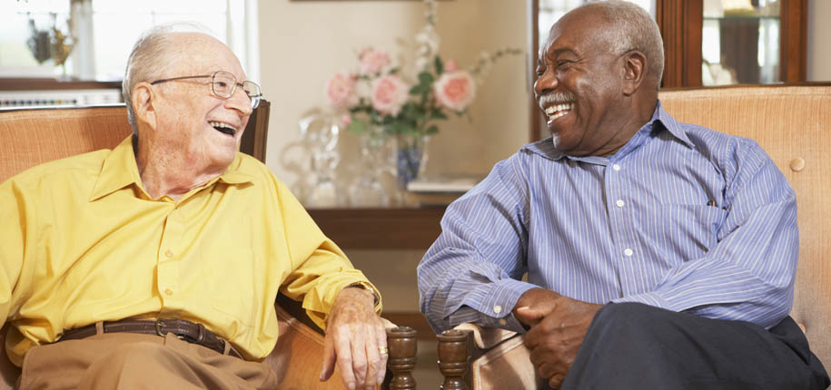 Friends share a laugh at senior living in oklahoma city