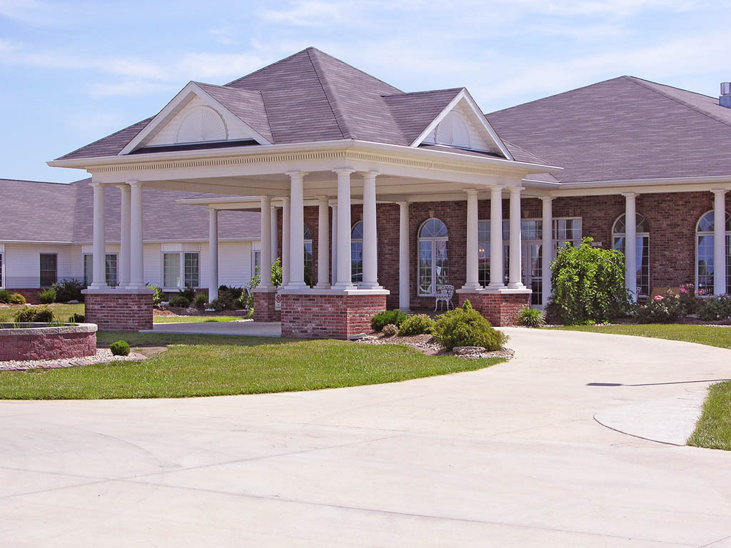Senior living community exterior in troy
