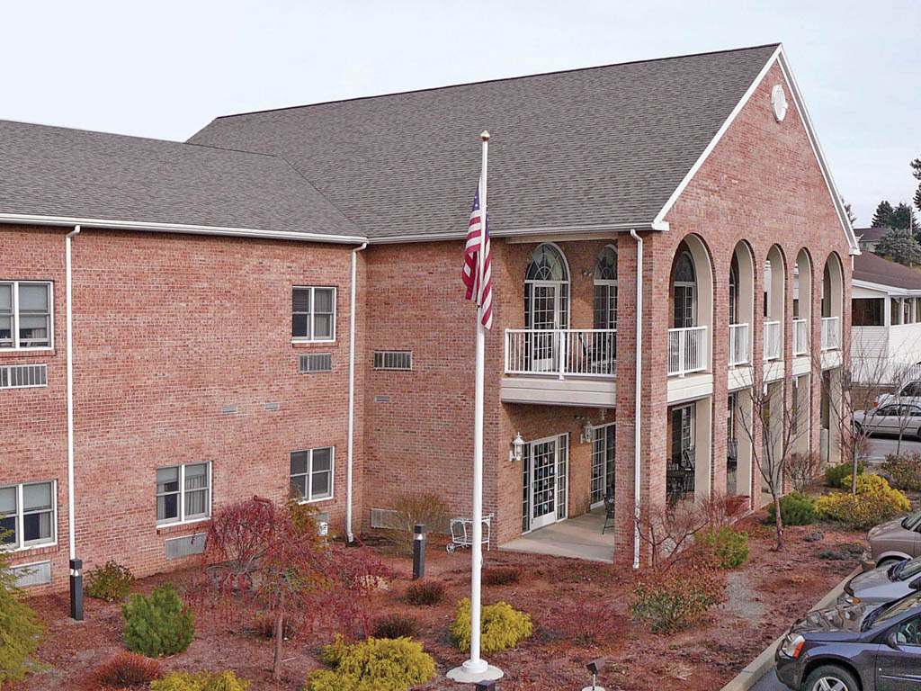 Senior living community exterior in montoursville