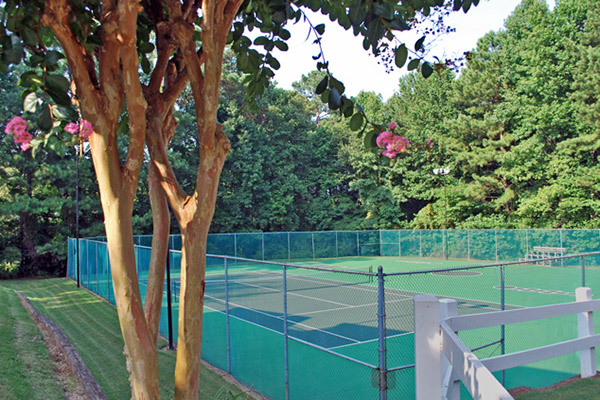 tennis court and sport court