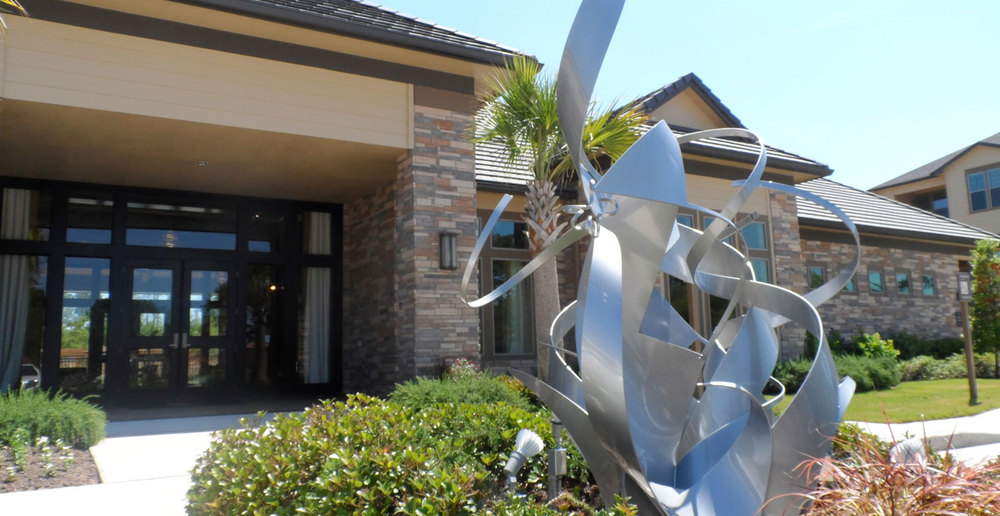 Kingwood apartments sculpture