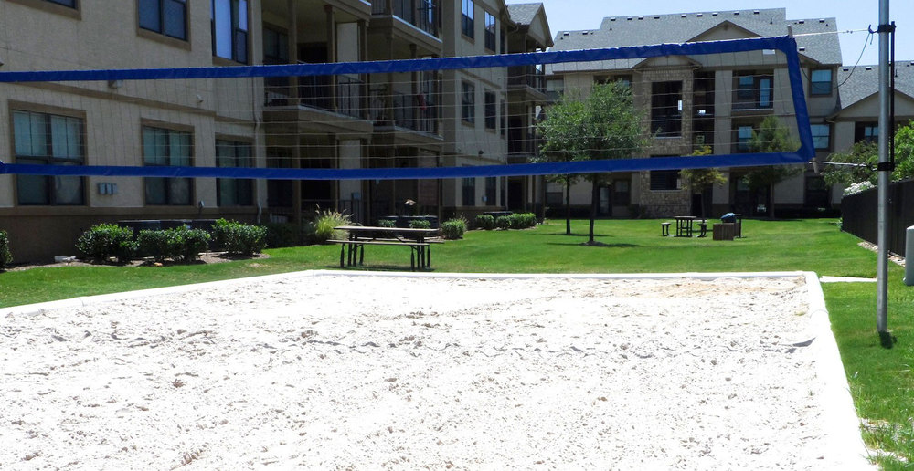 Bryan apartments volleyball court