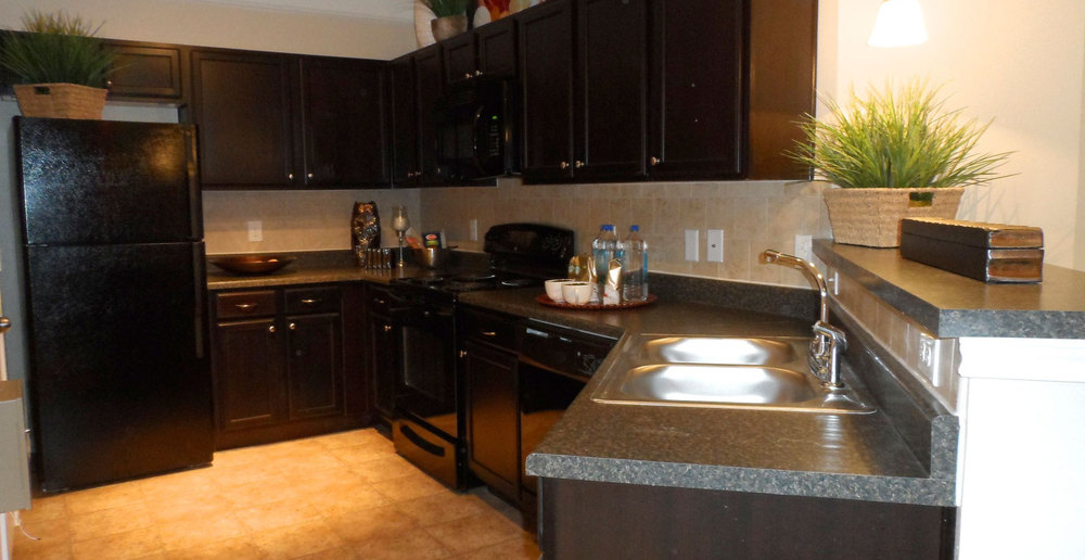Kitchen at Katy apartments