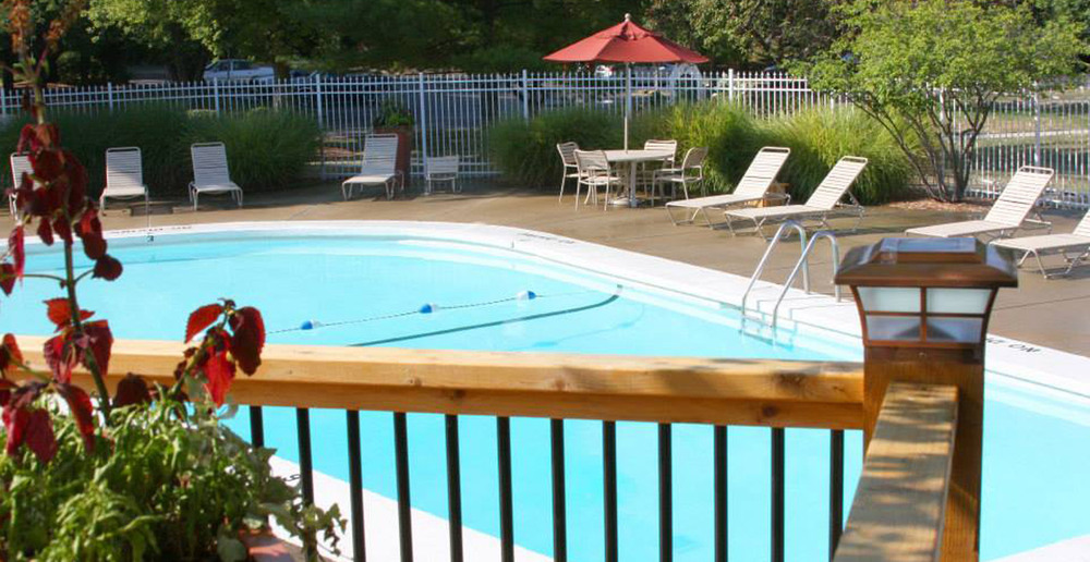 Sparkling pool at Springfield apartments
