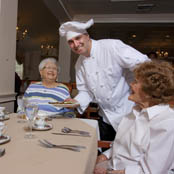 Brandford memory care residents dining