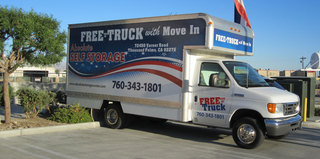 Moving truck at Thousand Palms self storage