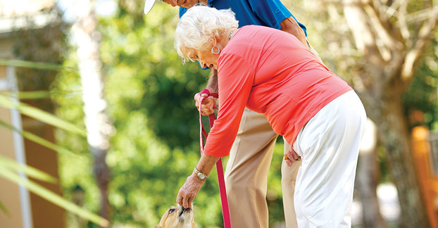Pet friendly at Fort Myers senior living