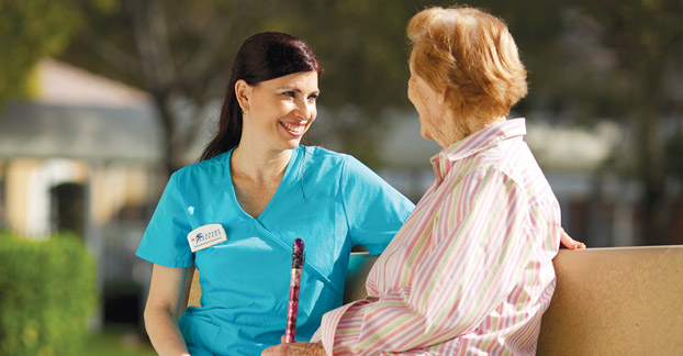 Senior living nurse at Fort Myers