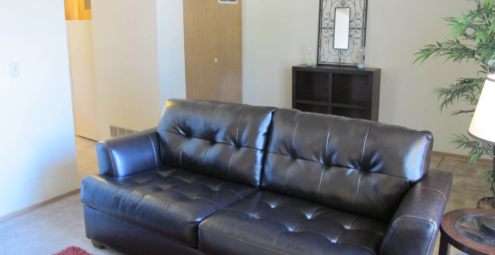 Lawrence apartments have comfortable living rooms