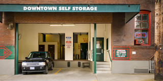 Customer parking at portland downtown self storage