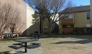 Courtyard at apartments in Amarillo