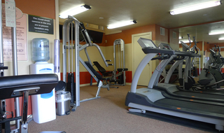 Fitness center at apartments in Amarillo