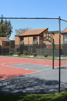 West Covina Affordable Apartment basketball court