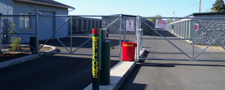 Medford self storage entrance