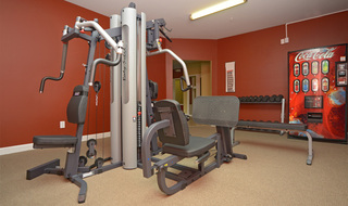 Apartments in Evansville with a fitness center