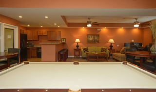 Community room at Evansville apartments