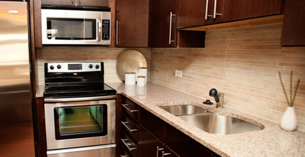 Luxury kitchen at Raleigh apartments