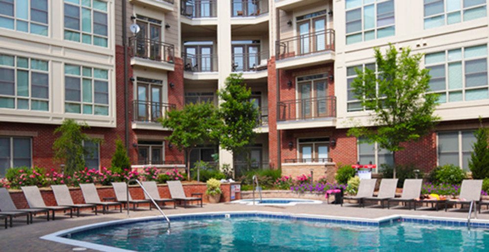 olympic size pool at raleigh apartments