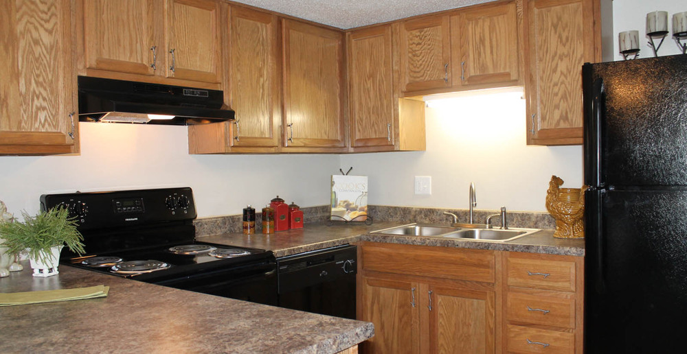 Comfortable kitchen at apartments in Overland Park