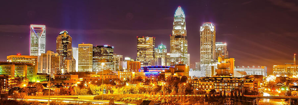 6 skyline of uptown charlotte north carolina at night alexandr grichenko