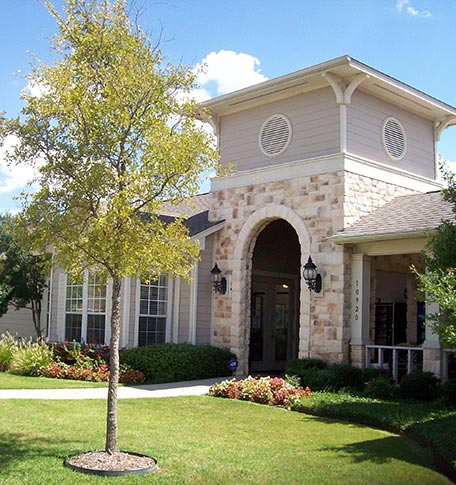 Exterior view of manufactured homes in Euless
