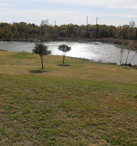 Pond near Euless manufactured homes