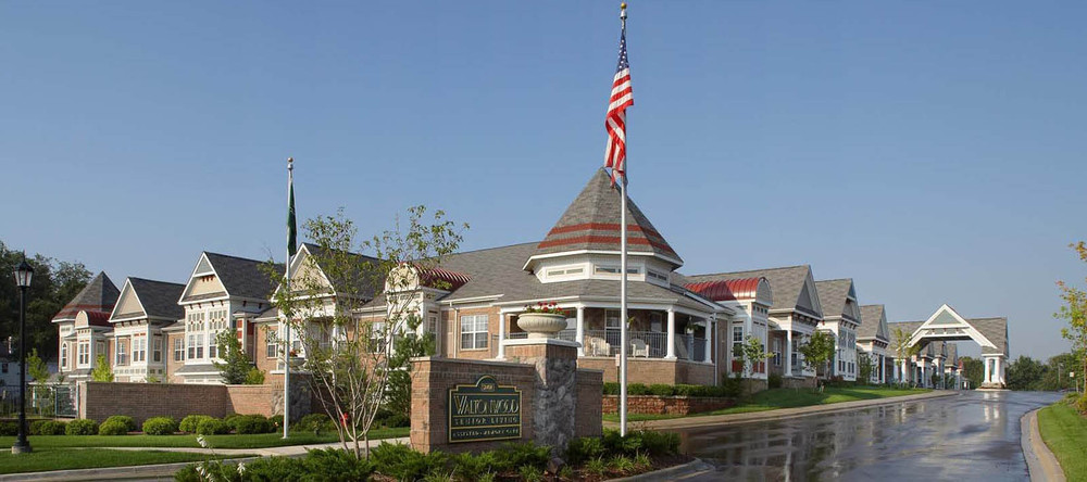 Senior living entrance in rochester heights