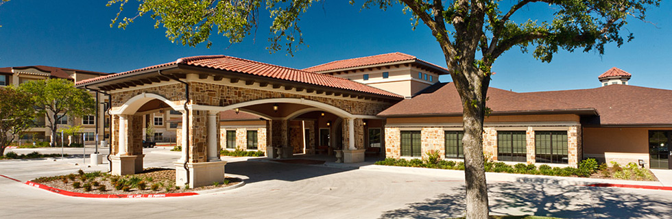 Entrance to Dallas Texas senior living community