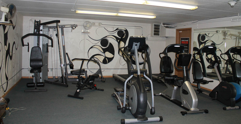 Work out in the fitness center at West Allis apartments