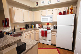 Open kitchen at apartments