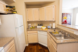 Spacious kitchen at apartments in