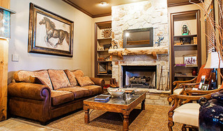 Fireplace at apartments in
