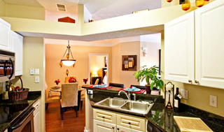 Kitchen at apartments in