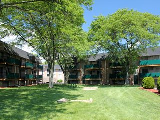 Green lawn at Dearborn Heights apartments
