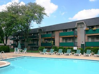 Swimming pool offered at the apartments in Dearborn Heights