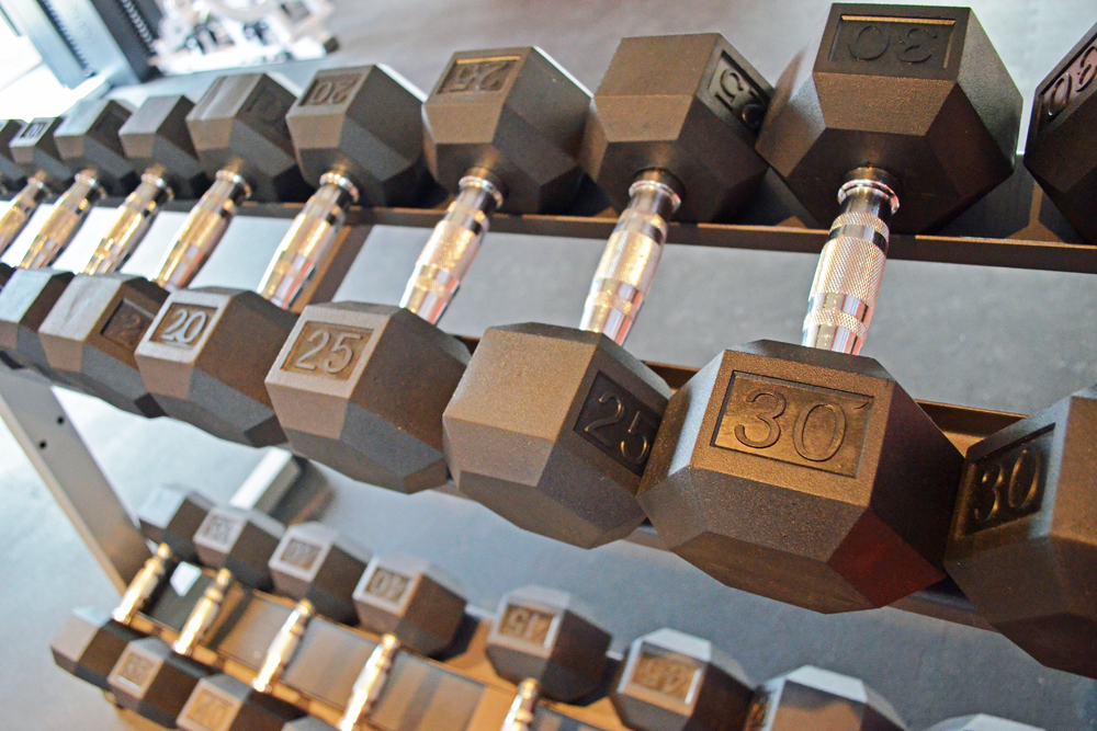 Fitness center freeweights stonebridge