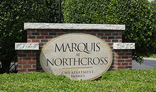 Northcross apartment sign entrance