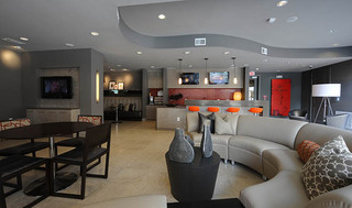 Large open living room at apartments