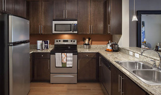 Custom cabinets at apartments