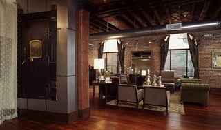 Luxury hardwood floors at apartments