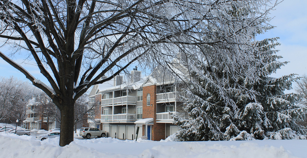 Apartments in Madison, WI in winter