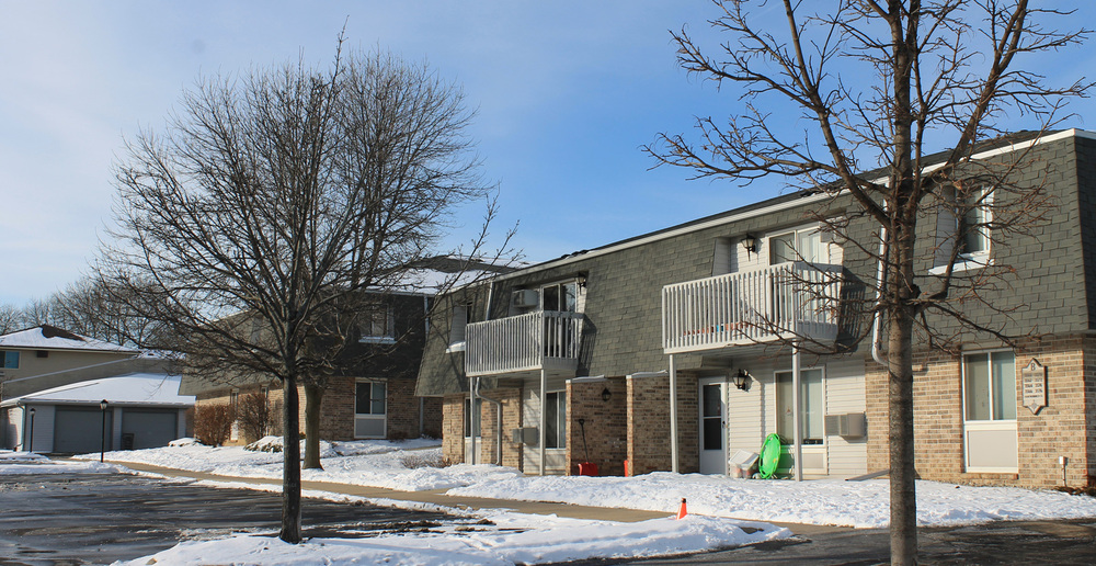 Apartments in St Francis during the winter