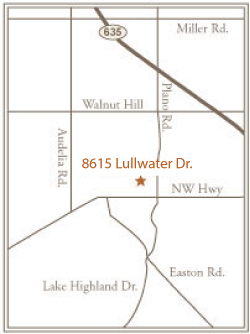 Villages of Lake Highlands area map of Dallas