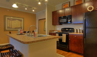 Spacious kitchen at apartments