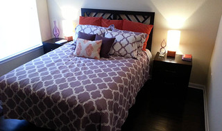 Guest bedroom at apartments