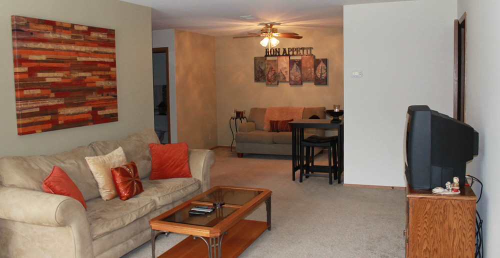 West Allis apartments have open living rooms