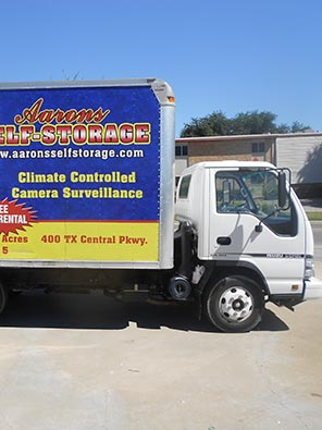 Aarons Self Storage offers a free moving truck