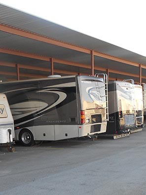 Aarons Self Storage offers RV storage in Texas