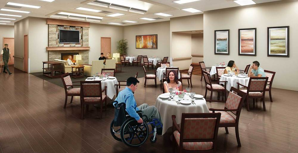 Oro valley senior living lounge
