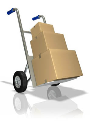 Moving supplies at A Storage Inns